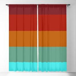 Yoshika - Multicolor Retro Stripes Blackout Curtain