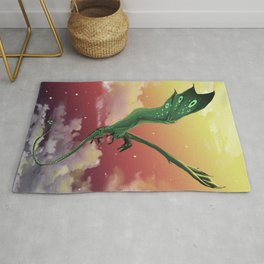 fly in the sky Rug