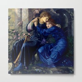 "Edward Burne-Jones ""Love Among the Ruins"" Metal Print"