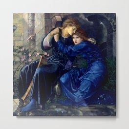 "Edward Burne-Jones ""Love Among the Ruins"" Metal Print"