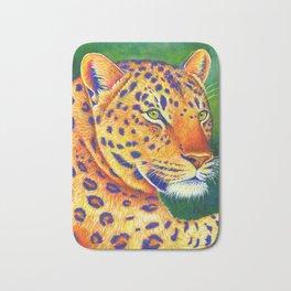 Colorful Leopard Big Cat Wild Cat Bath Mat