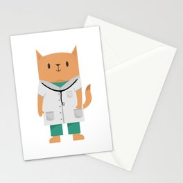 Doctor Cat Stationery Cards