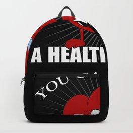 Heart Sport Health Healthy Sporty Fit Sport Backpack