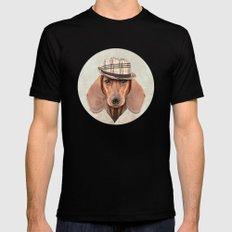 The stylish Mr Dachshund MEDIUM Mens Fitted Tee Black