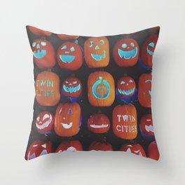 Jack O'Lanterns Throw Pillow
