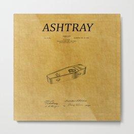 Ashtray Patent 1 Metal Print