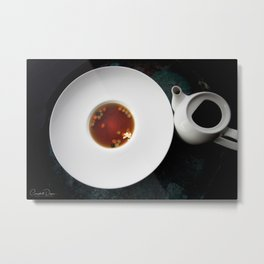 The Art of Food Gold Leaf Beef Tea Metal Print