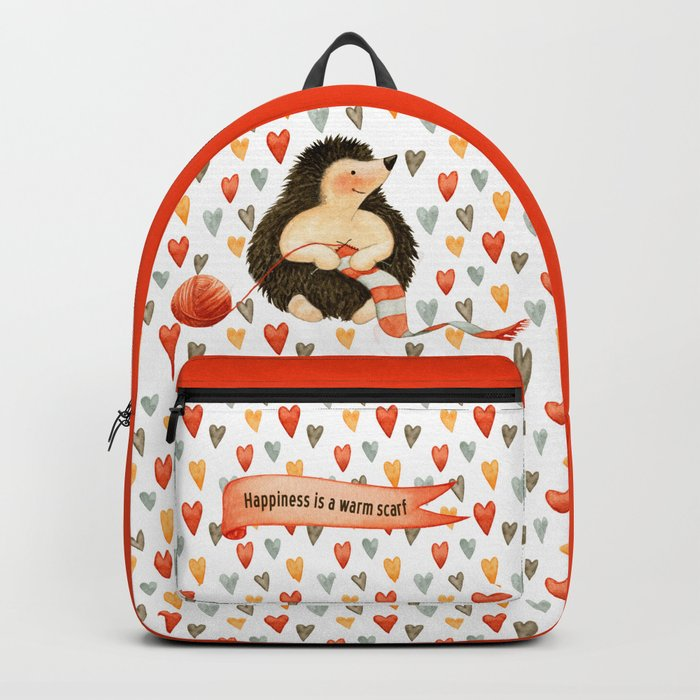 Happiness is a warm scarf Backpack