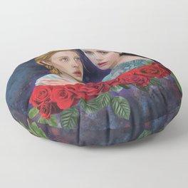 The Sleepers, digital painting Floor Pillow