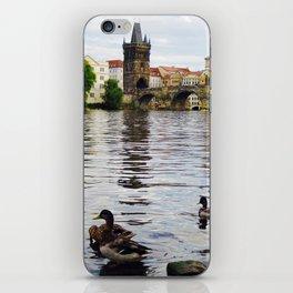 Ducks and Charles Bridge iPhone Skin