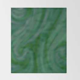 Green SWIRL Throw Blanket