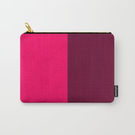 Pink and Red Carry-All Pouch