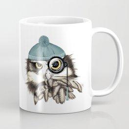 Owl eyeglass and cap Coffee Mug
