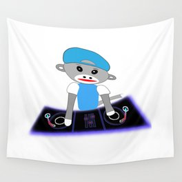 Dj Monkey Wall Tapestry