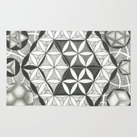 sacred geometry Area & Throw Rugs featuring Sacred by Brandon Leung