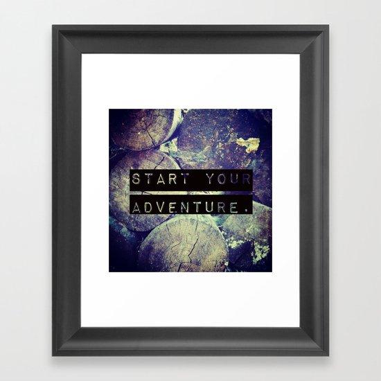 Start Your Adventure Framed Art Print