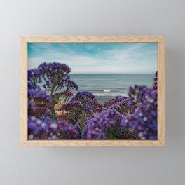 Cute Purple WildFlowers on the California Coast Spring Superbloom Framed Mini Art Print