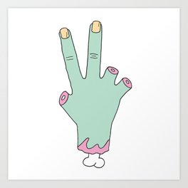 Zombie Fingers Art Print