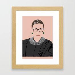 RBG Minimalist Framed Art Print