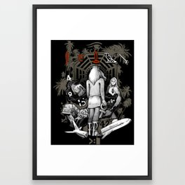 Lost Collage Framed Art Print