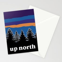 up north, blue & purple Stationery Cards