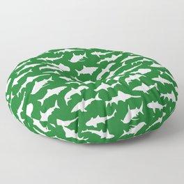 Sharks on Jewel Green Floor Pillow