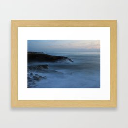 Ocean Beach San Diego Ca, Sunset Framed Art Print