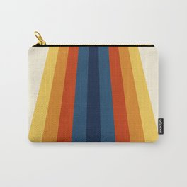 Bright 70's Retro Stripes Carry-All Pouch
