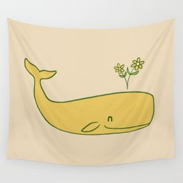Peace Whale - colour option Wall Tapestry