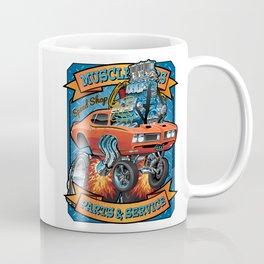 Classic Sixties Muscle Car Parts & Service Cartoon Coffee Mug