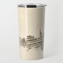Berlin Germany Skyline Sheet Music Cityscape Travel Mug