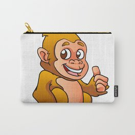 baby gorilla cartoon Carry-All Pouch
