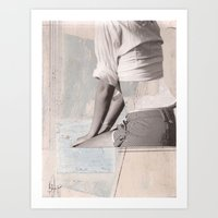booty Art Prints featuring BOOTY by dara dean
