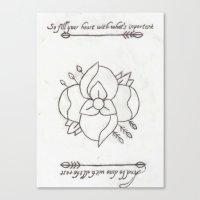la dispute Canvas Prints featuring La Dispute Logo Tattoo by Sarah Hinds