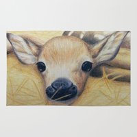 bambi Area & Throw Rugs featuring Bambi by Erin Schamberger