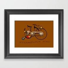 Steampunk bike Framed Art Print