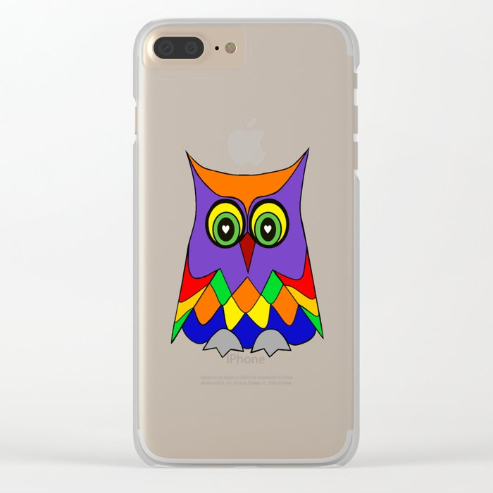 I Love Owls Clear iPhone Case