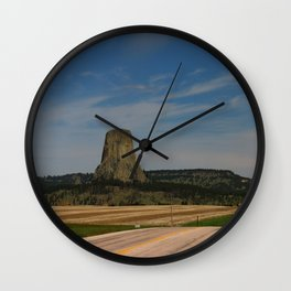 Road To Devils Tower Wall Clock