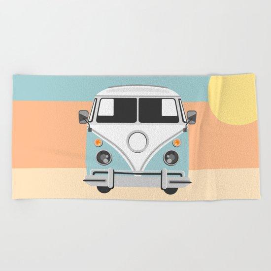 The Van of the Future Beach Towel