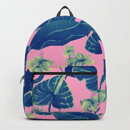 pink and blue wild Backpack
