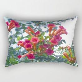 Trumpet vine flowers 004 Rectangular Pillow