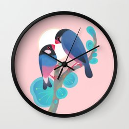 Java sparrows Wall Clock