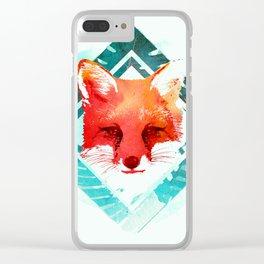Green fox Clear iPhone Case