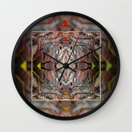 Petrified wood in abstract ... Wall Clock