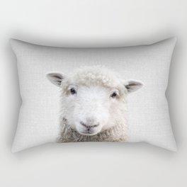 Sheep - Colorful Rectangular Pillow