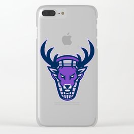 Stag Lacrosse Mascot Clear iPhone Case