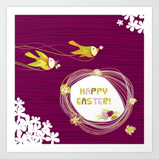 Easter Birds Art Print