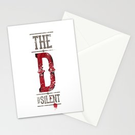 Django - The D is silent Stationery Cards