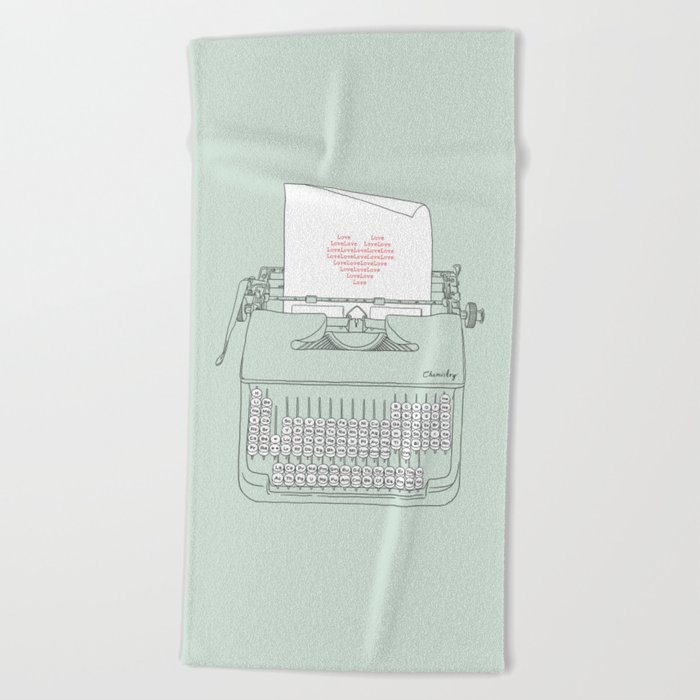 The Chemistry of Love Beach Towel
