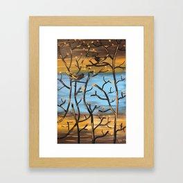 """BLACK BIRDS"" ORIGINAL PAINTING BY AMBER WADE Framed Art Print"